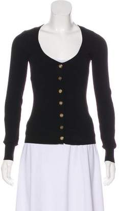 Dolce & Gabbana Knit Scoop Neck Cardigan