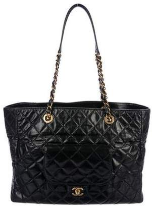 8a8c48a93442 Chanel Quilted Aged Calfskin Flap Tote
