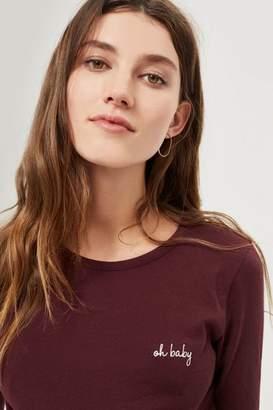 Topshop **Maternity 'Oh Baby' Long Sleeve T-Shirt