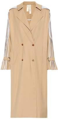 BODICE Pleated wool-blend coat