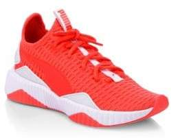 Puma Women's Defy Wn's Knit Sport Runners - Red - Size 6.5