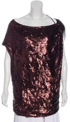 Stella McCartney Silk Sequined Blouse Bronze Silk Sequined Blouse