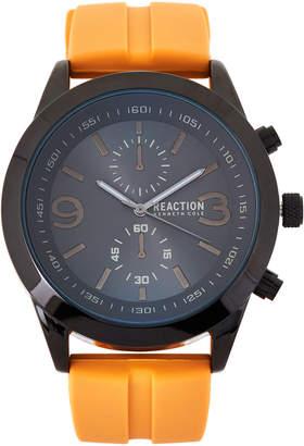 Kenneth Cole Reaction RK50073009 Gunmetal & Orange Watch