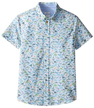 Paul Smith Junior - Short Sleeve Dinosaur All Over Printed Shirt Boy's T Shirt $108 thestylecure.com