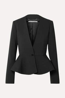 Stella McCartney Wool-blend Peplum Blazer - Black