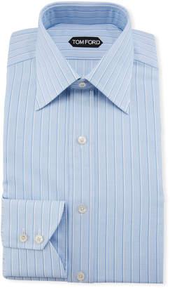Tom Ford Men's Textured Stripe Dress Shirt