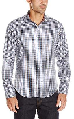 Bugatchi Men's Hounds Plaid Button Down Shirt