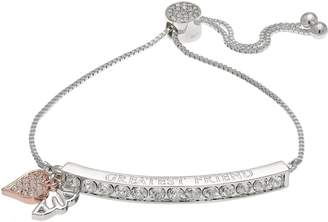 "Brilliance+ Brilliance ""Greatest Friend"" Adjustable Bracelet with Swarovski Crystals"