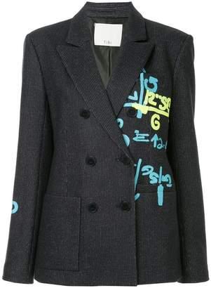 Tibi boxy printed blazer