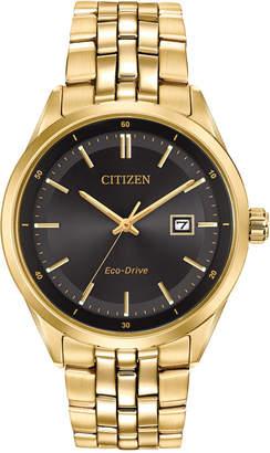 Citizen Men Eco-Drive Gold-Tone Stainless Steel Bracelet Watch 41mm BM7252-51E