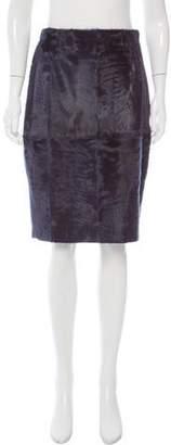Oscar de la Renta Knee-Length Lamb Skirt w/ Tags