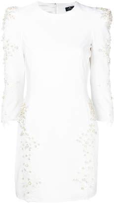 Elisabetta Franchi lace embellished short dress