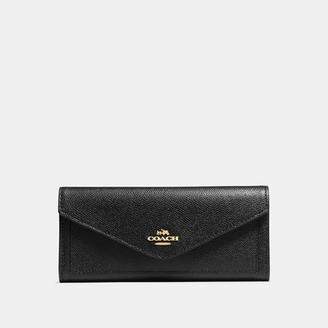 COACH Coach Soft Wallet In Crossgrain Leather $150 thestylecure.com