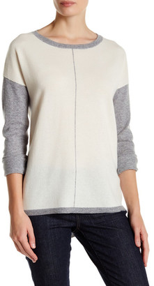 In Cashmere Cashmere Colorblock Sweater $236 thestylecure.com