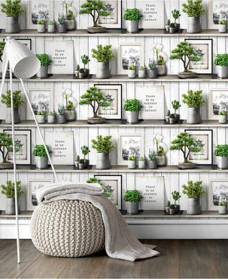 Graham & Brown Etagere Green Wallpaper