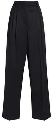 Brunello Cucinelli Wool-Blend Wide-Leg Pants