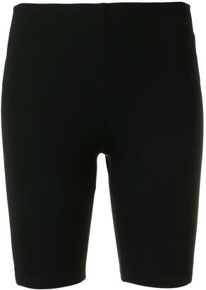 Paco Rabanne back logo stripe cycling shorts