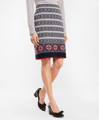 50060cf0a8 Brooks Brothers Fair Isle Stretch Wool Knit Skirt