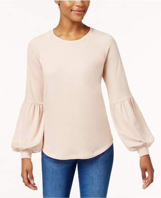 Style&Co. Style & Co Bishop-Sleeve Sweatshirt