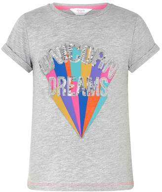 Angels By Accessorize Girls Angels by Accessorize Grey Unicorn Dreams T-Shirt - Grey