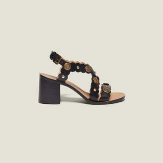 Sandro Heeled sandals with rivet details