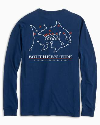 Southern Tide Skipjack Play Long Sleeve T-shirt - Auburn University
