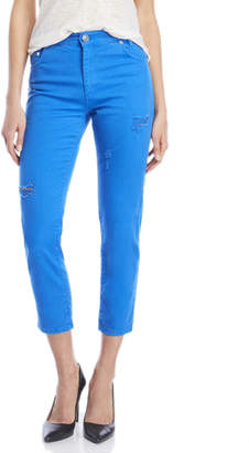 Sandro Parsia High-Waisted Distressed Jeans