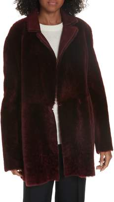 Theory Clairene Reversible Genuine Shearling Coat