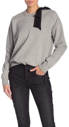 Frame Bow Tie Neck Sweatshirt