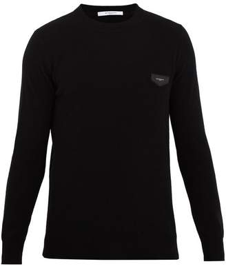 Givenchy Logo Patch Cashmere Sweater - Mens - Black