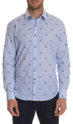 Robert Graham Delcoa Regular Fit Print Woven Shirt