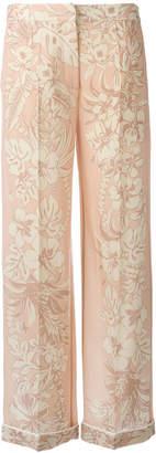Valentino floral palazzo pants