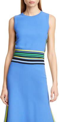 Diane von Furstenberg Kamari Stripe Detail Sleeveless Top