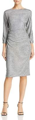 Adrianna Papell Metallic Knit Dress