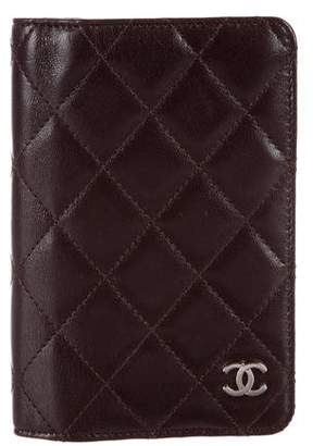Chanel Quilted Mini Agenda Cover