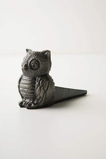 Anthropologie Owl Doorstop