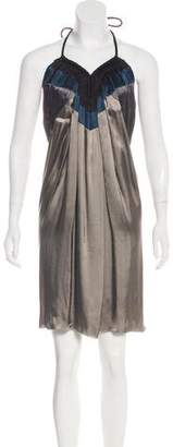 Lanvin Halter Knee-Length Dress