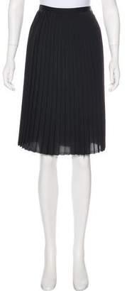 Organic by John Patrick Knee-Length Pleated Skirt