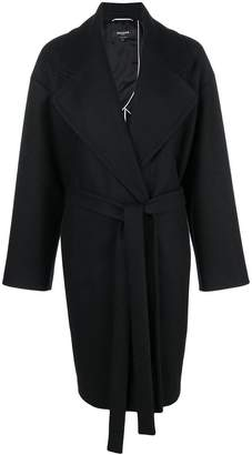 Rochas belted single-breasted coat