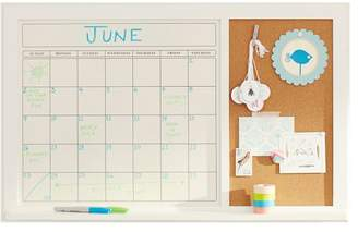 Pottery Barn Teen Message Calendar Board, Simply White