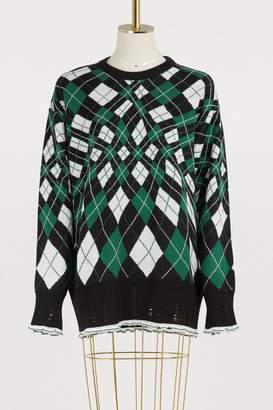 MSGM Plaid merino sweater