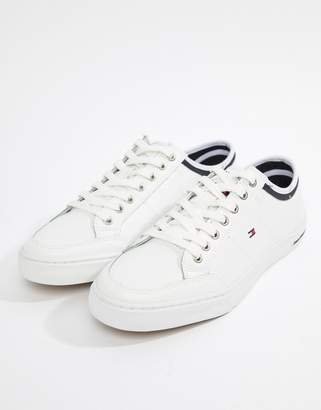 Tommy Hilfiger Core Corporate Leather Sneakers In White