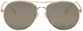 Gentle Monster Gold Ranny Ring Sunglasses $260 thestylecure.com