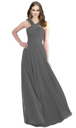 MaliaDress Women Cross Neck Sexy Bridesmaid Dress Prom Gown M211LF US