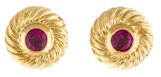 David Yurman 18K Ruby Cookie Stud Earrings