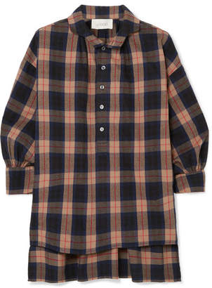 The Great The Painter's Smock Plaid Cotton-flannel Shirt - Brown