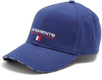 Logo-embroidered canvas cap