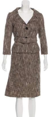 Valentino Bouclé Knee-Length Skirt Suit