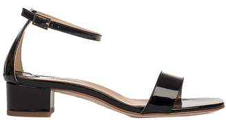 Fabio Rusconi Black Patent Leather Heeled Sandal