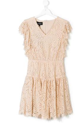 Little Remix TEEN lace flared dress